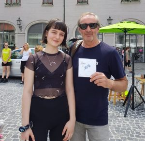Gesangstalent Aleyna mit Konrad Harle