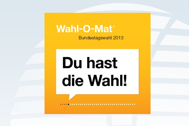 Wahl-O-Mat zur Bundestagswahl 2013 Bildquelle: bpb