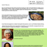 Barbara Rütting und Samy Ebel kochen auf dem Geburtstag der V-Partei³