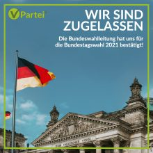 V-Partei³ für die Bundestagswahl 2021 zugelassen