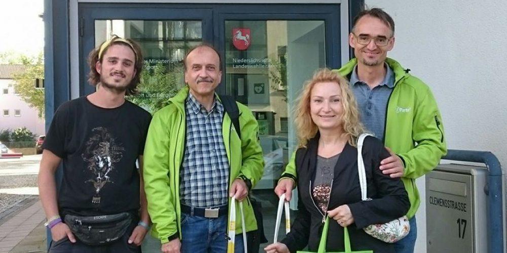 Wir trotzen den Widrigkeiten – V-Partei³ erreicht die erforderlichen Unterstützungsunterschriften für die Zulassung zur Landtagswahl in Niedersachsen