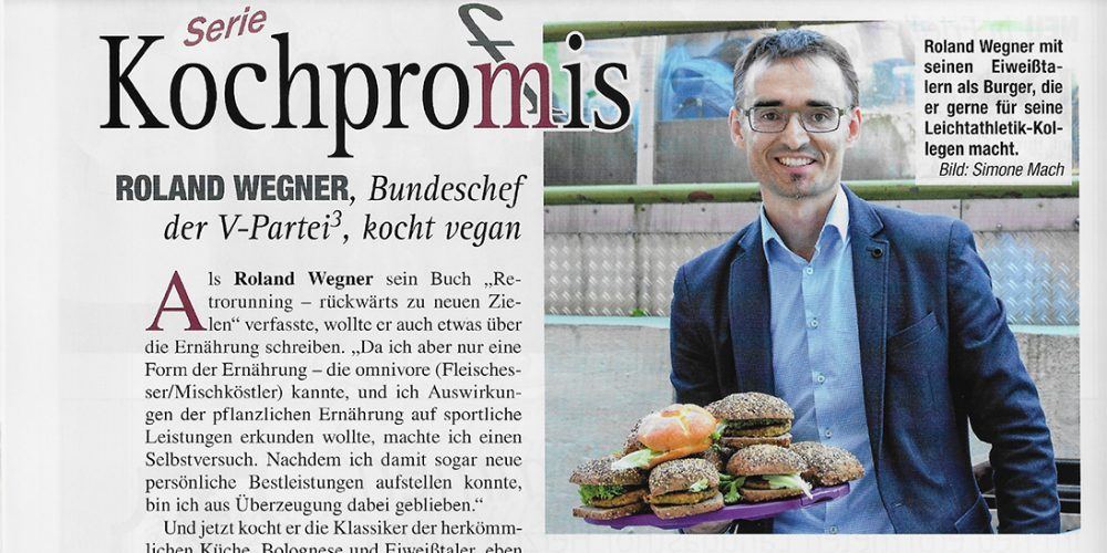"""Der Bundesvorsitzende Roland Wegner bei """"Kochprom(f)is"""""""