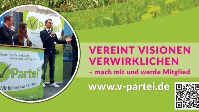 V-Partei³ – VEREINT  VISIONEN  VERWIRKLICHEN