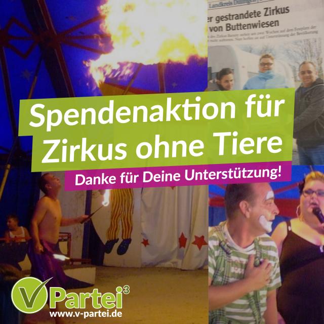 Spende für Zirkus ohne Tiere – UPDATE