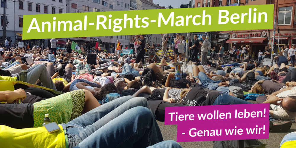 Hellgrünes Leuchten auf Deutschlands größter Tierrechtsdemo