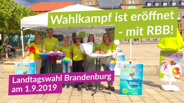 V-Partei³ eröffnet heiße Phase des Landtagswahlkampf in Eberswalde