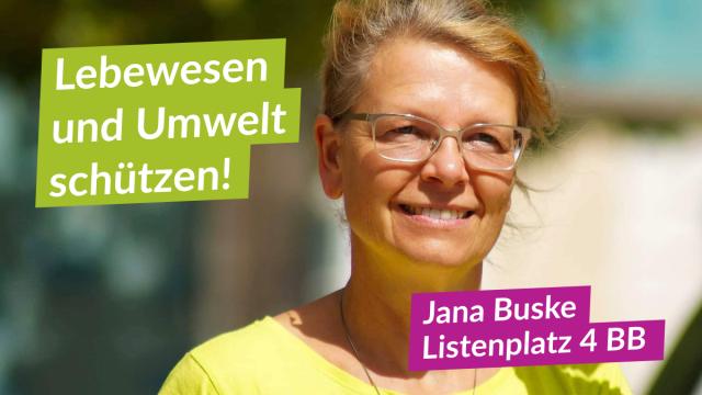 Kandidatin für Brandenburg Jana Buske