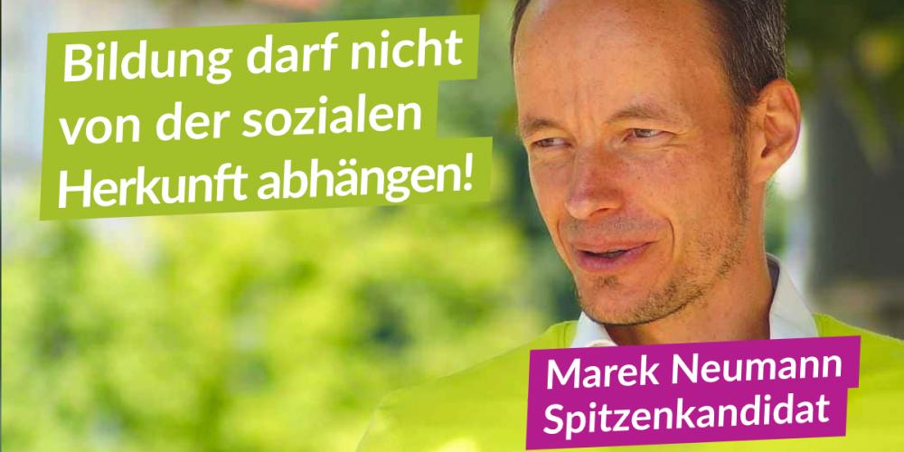 Marek Neumann ist Spitzenkandidat für Brandenburg