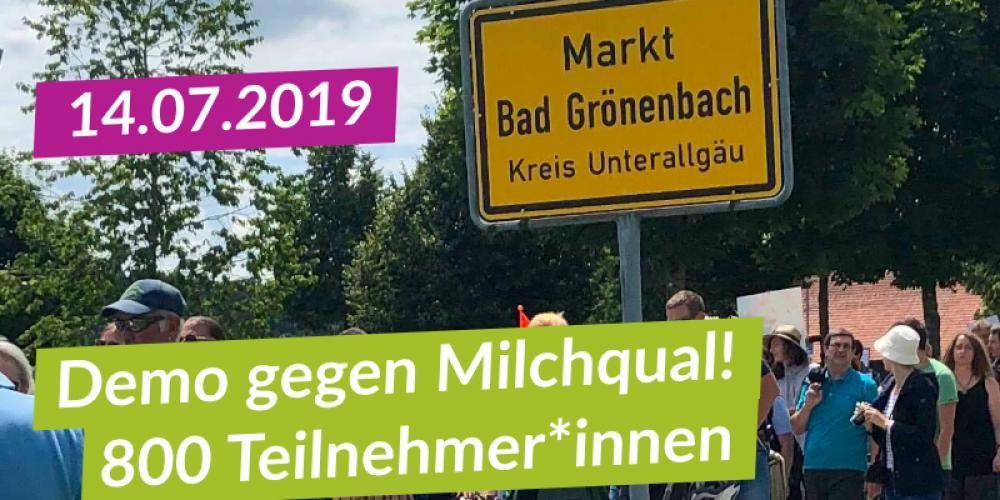 3 Gedenkminuten für die Tiere und 3 Haselnüsse für Bad Grönenbach!