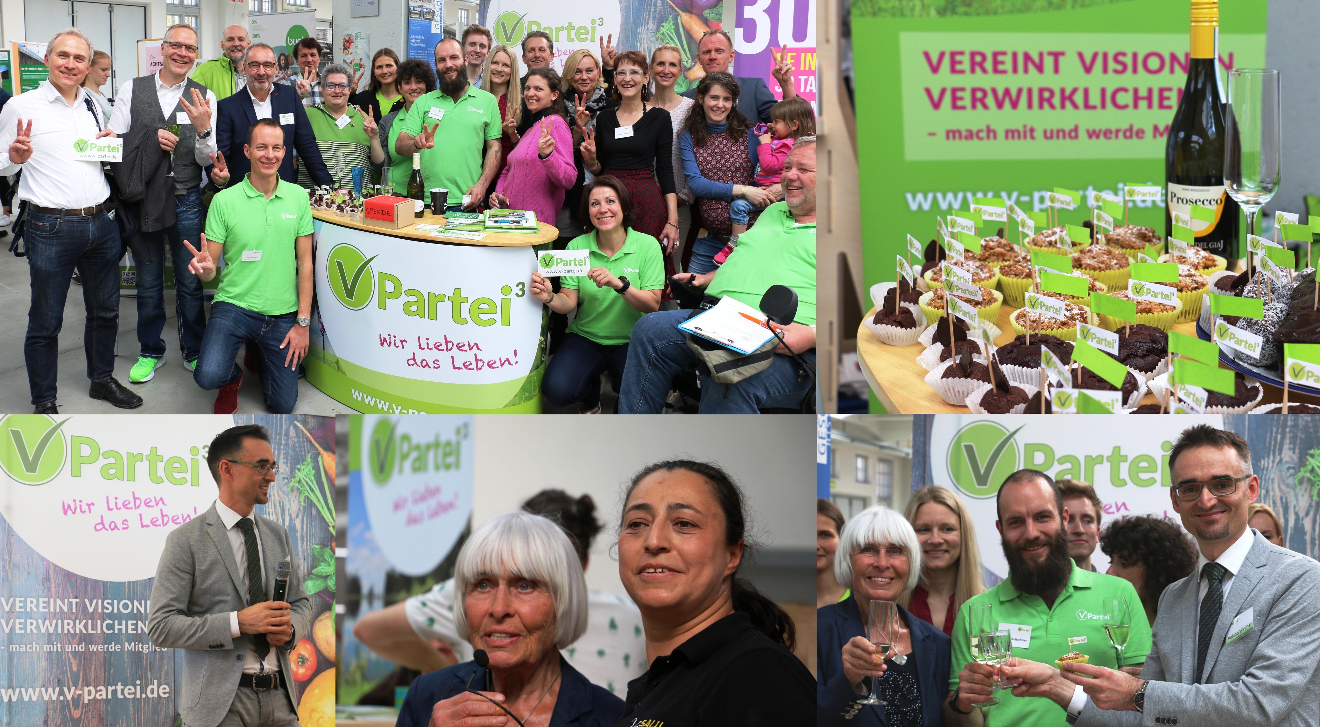 V-Partei³ feiert Meilenstein für Zulassung zur Bundestagswahl
