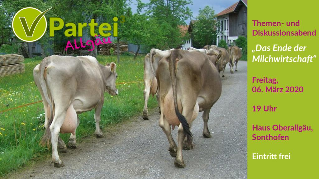 Themenabend Ende der Milchwirtschaft 6.3. 19 Uhr