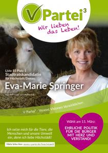 Kommunalwahl Höchstädt 2020 V-Partei Eva-Marie Springer