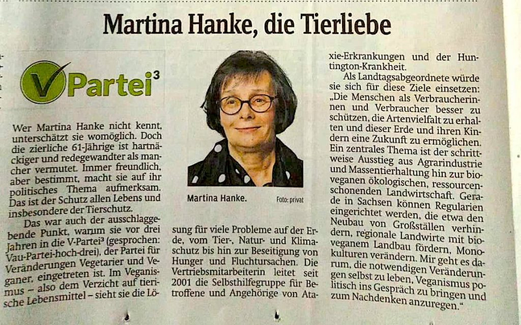 Martina Hanke Direktkandidatin Sachsen Landtagswahl