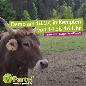 Demo: System Schlachthof am Ende?! am 18.7.2020 in Kempten